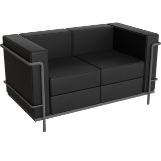 Preview of LC2 Le Corbusier 2 Seat Sofa