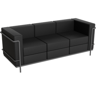 Preview of LC2 Le Corbusier  3 Seat Sofa